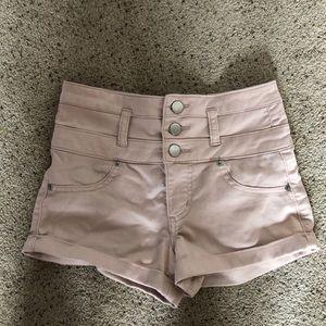 light pink high waisted short shorts